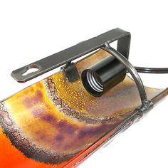 Handmade Artisan Glass 12 inch Wall Sconce Chile | eBay