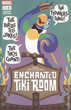 Cover for Enchanted Tiki Room (Marvel, 2016 series) [Jason Grandt Connecting Cover] Disney Love, Disney Magic, Disney Art, Disney Birds, Disney Collage, Disney Dream, Disney Stuff, Walt Disney, Comic Book Covers
