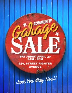 Garage Sale Flyer Poster Social Media Post Template  Garage Sale