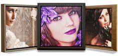 canvas float frame header image