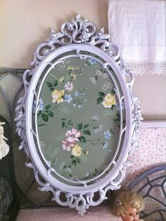 SOLD to thelittleprince Fabulous Vintage Large French Rose Flower Mirror Frame - Cottage Chic - Home Decor Syroco