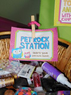 Owl & Craft Birthday Party Invite - Digital Download  -- Pet Rock Station