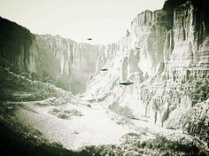 Ufos south west of Area 51 in formation, very rare photo, first seen here.