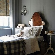 A charming bedroom for an old cottage'y home - unless of course, you are lucky enough to have a antebellum plantation