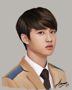 exo d.o kyungsoo fanart Fan Art Anime, Exo Album, Korea, Exo Fan Art, Exo Lockscreen, Exo Chen, Exo Do, Do Kyung Soo, K Pop Star