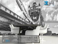 Fotomurales Ciudad Puente de la torre de Londres  (tapiz) (mural) (fotomural). Vinilo 314 Guadalajara Mexico. Decoración de muros y superficies lisas. www.vinilo314.com