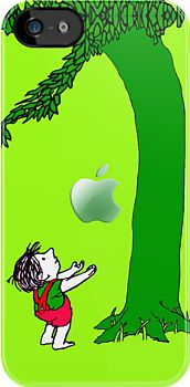 Green, Tree and Kids with an apple iphone 5, iphone 4 4s, iPhone 3Gs, iPod Touch 4g case, Available for T-Shirt man and woman by pointsalestore Corp