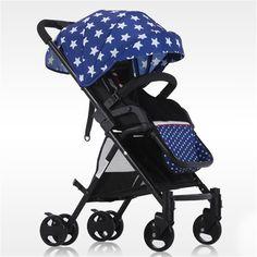 Color : B YOYO Sillas de Paseo Twin Stroller High Landscape Stroller Can Sit Lie S/úper Plegable Cochecito port/átil Mosquitera Portavasos Negro Carritos y sillas de Paseo