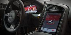 iPad User Interface Integration in Audi R8 F12 e Performance Prototype