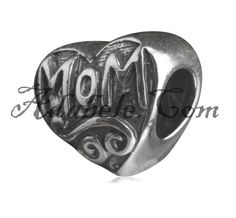 This beautiful Special Mom's Love .925 Sterling Silver European charm fits Pandora, Biagi Trollbeads, Chamilia, and most charm bracelets find out more at adabele.com