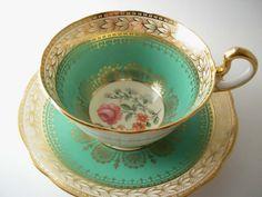 Rare Antique 1920's Aynsley Tea Cup And Saucer por AntiqueAndCrafts