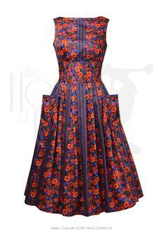 50s Pockets & Posies Day Dress