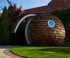 Archipod, a prefabricated pod made in sections from recycled and eco-friendly materials.