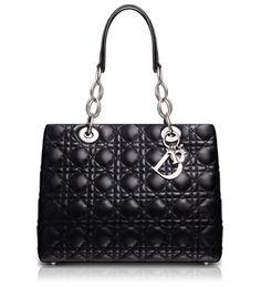 DIOR SOFT - Black leather 'Dior Soft' shopping bag