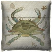 Vintage Crab Pillow