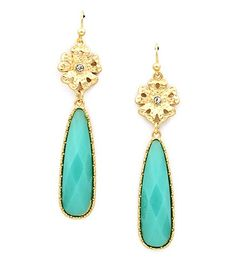 Turquoise Drop Earrings - $7.99 today!