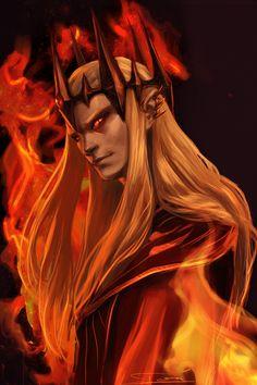 Sauron the Deceiver by rosythorns on deviantART