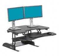 Varidesk Cube Corner 36 Black - Standing Desk