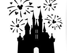 SVG Cut Files for Cameo, Cricut, Silhouette.Craft it! by BigDesignCo Disney Font Free, Disney Fonts, Disney Castle Silhouette, Disney Castle Tattoo, Disney Furniture, Disneyland Castle, Disney Silhouettes, Disney Crafts, Disney Diy