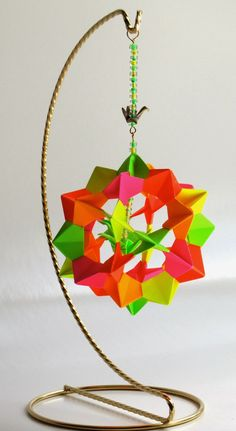 Origami Maniacs: Electra Icosidodecahedron by David Mitchell.