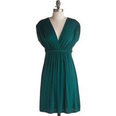 Closet Braid Dress in Deep Jade (€45) ❤ liked on Polyvore featuring dresses, short sleeves, day dress, green, a-line, short, maternity, jersey, empire and cover-up