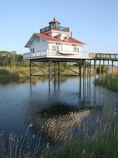 Old Plantation Flats (Replica) Lighthouse, Virginia at Lighthousefriends.com