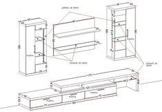 Картинки по запросу medidas mueble de tv