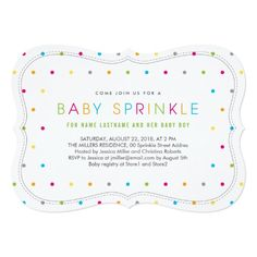 Shop Modern Clean Neutral Baby Sprinkle Invite Bracket created by pinkpinetree. Baby Sprinkle Invitations, Custom Baby Shower Invitations, Zazzle Invitations, Paper Owls, Unique Baby Shower Gifts, Sprinkles, Card Making, Neutral, Baby Boy