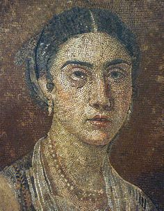 Roman portrait mosaic in the Museo Archeologico Nazionale di Napoli.