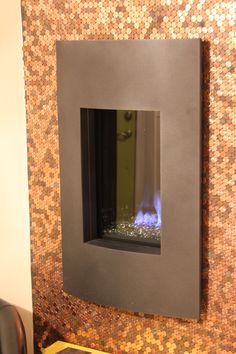 Penny Wall Fireplace