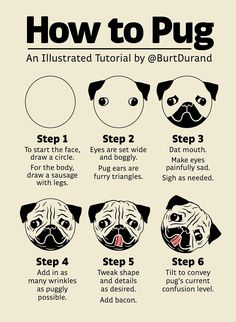 "I present ""How to Pug,"" an illustrated tutorial."