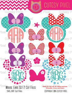 Mermaid Mouse ears Designs Svg cutting file, mouse ears, mermaid, love, SVG, DXF, Cricut Design Space, Silhouette Studio,Digital Cut Files by CutesyPixel on Etsy