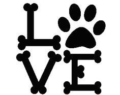 Dog Bones spelling Love with Paw Love Dogs Vinyl Car Window Laptop Decal sticker. The decal is WHITE. Dog Bone Image, Two Week Tattoo, Bone Tattoos, Pet Tattoos, Laptop Decal Stickers, Dog Bones, Dog Paws, Vinyl Art, Clip Art