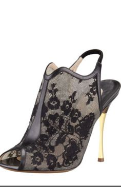 Lace sling back......ohhhh so nice....