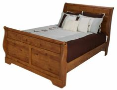 Homemakers Furniture: Rustic Pine King Sleigh Bed: Ashley : Bedroom: Beds