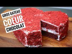 [On aime] Gros gateau coeur chocolat 🍫🍫🍫  red velvet heart cake - Hervé cuisine @hervecuisine