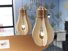 cool creative DIY ideas home lighting cardboard lamps kitchen lighting ideas