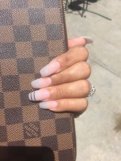 Simple and classy coffin shaped nails
