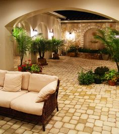 Hacienda Courtyard at Flintrock Lakeway, Texas - mediterranean - patio - Alberto Jauregui Designs, Inc.