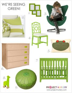We're seeing green! #design #nursery