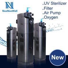 8W NuoNuoWell UV Sterilizer Multifunctional Filter Pump Air Pump Oxygen +UV Light Algae Remove Deep Clean #Affiliate