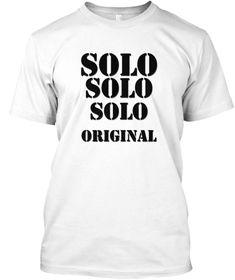 Solo White Kaos Front