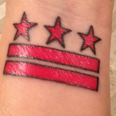 my DC flag tattoo - almost healed!