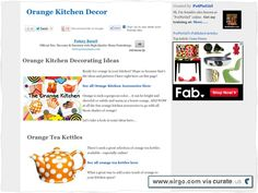 More orange kitchen decor ideas