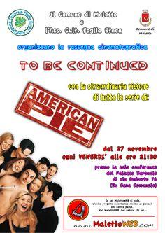 27 novembre 2009 - Manifesto Rassegna Cinematografica To Be Continued