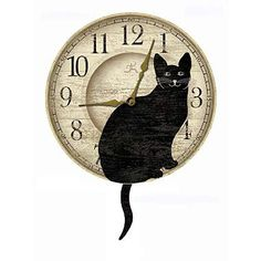 Image detail for -HOM → Home Decor → Clocks → Felix the Cat Clock