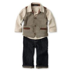Wendy Bellissimo™ 3-pc. Vest Set - Boys 6m-24m $40