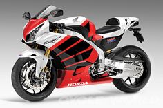Honda Concept Bike - MotoGP for the street! Honda Fireblade, Motos Honda, Honda Bikes, New Honda, Motogp, Bike Photo, Sportbikes, Honda Motorcycles, Custom Motorcycles