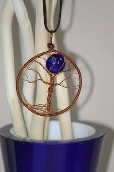 Use PINXMAS code for 10% OFF! Copper wire necklace pendant with a tree and by DeaJewelleryStore