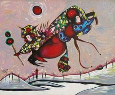 Come Fly With Me (43x35) by Toller Cranston
